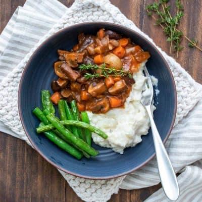Vegan Mushroom Bourguignon Recipe