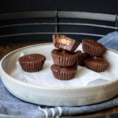 Healthy Vegan Peanut Butter Cups Recipe