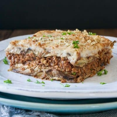 Authentic Vegan Moussaka Recipe with Lentils