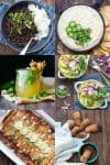 Collage of recipes for different course for cinco de mayo