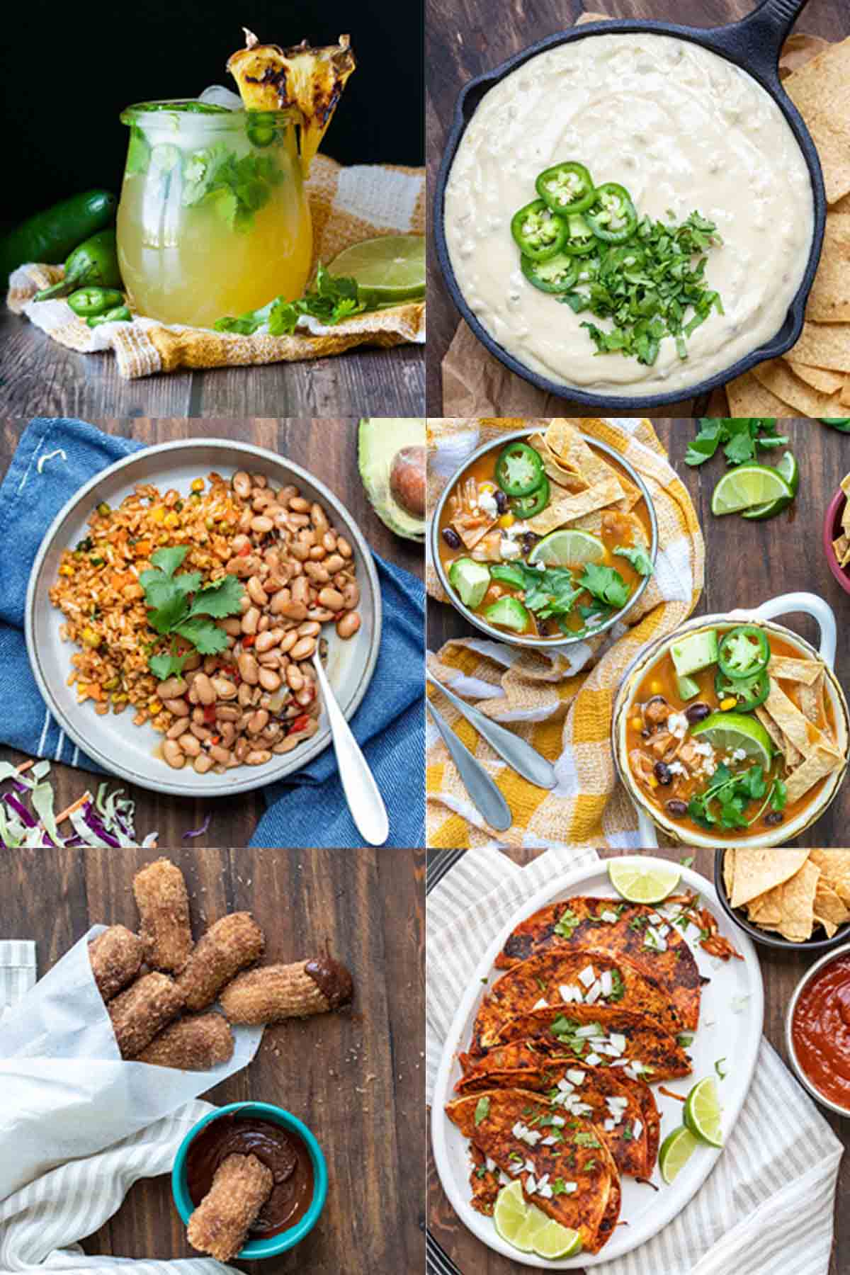 Collage of Mexican recipes for every course