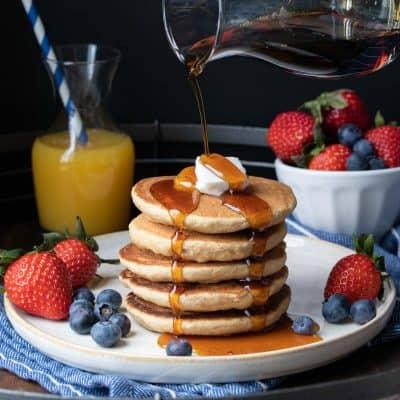Healthy Vegan Gluten-Free Buttermilk Pancakes