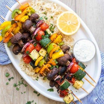 The Best Grilled Veggie Kabobs