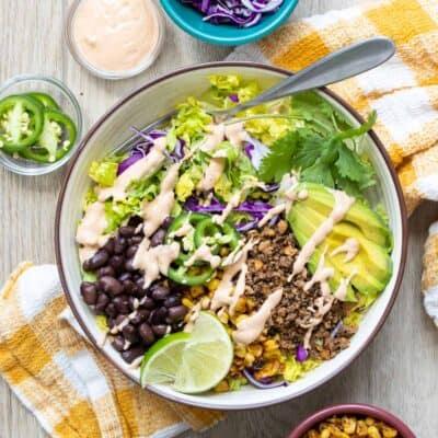 Healthy Vegan Taco Salad Recipe