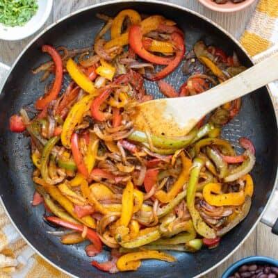 Fajita Veggies Chipotle Copycat