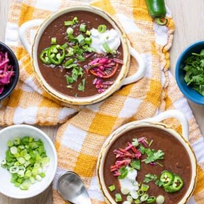 Simple Vegan Black Bean Soup Recipe