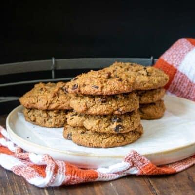 Vegan Gluten-Free Pumpkin Chocolate Chip Cookies